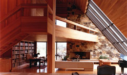 Architecturally designed stone, cedar & glass contemporary, one of a kind, waterfront home