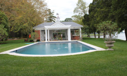 Remodeled pool house, pergola addition and new pool.